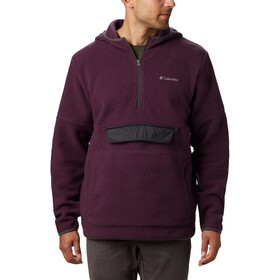 Columbia Rugged Ridge Sherpa Pullover Capuchon Trui Heren, black cherry/shark